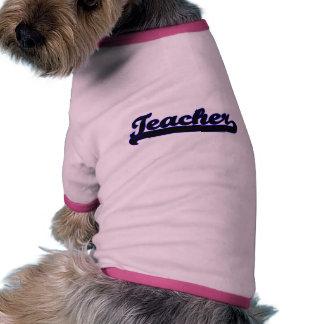 Teacher Classic Job Design Ringer Dog Shirt