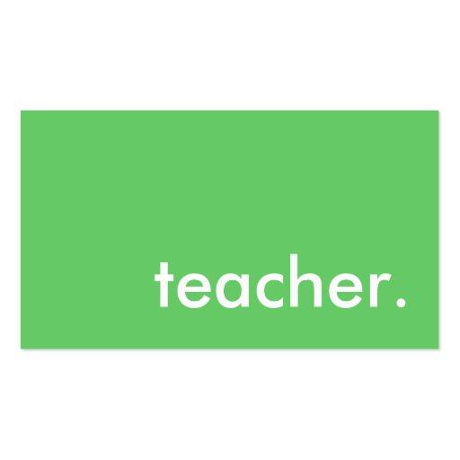 teacher. (color customizable) business card templates