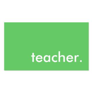 teacher color customizable business card templates