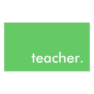 teacher. (color customizable) pack of standard business cards
