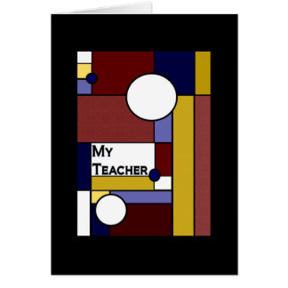 Teacher - Colorful Meaningful Blank Card