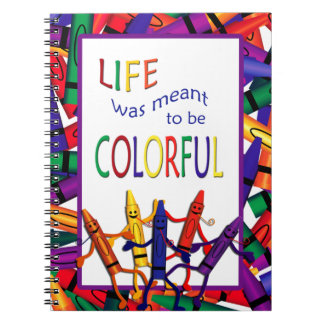 Teacher Crayons Colorful Life Note Book