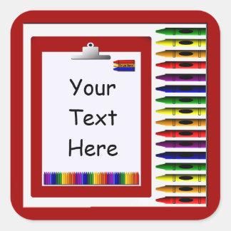 Teacher Crayons Custom Sticker