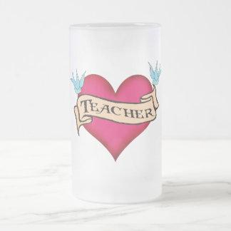 Teacher - Custom Heart Tattoo T-shirts & Gifts Mug