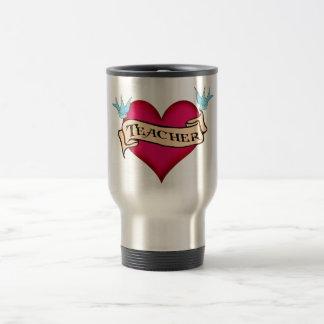 Teacher - Custom Heart Tattoo T-shirts & Gifts Coffee Mugs