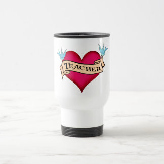 Teacher - Custom Heart Tattoo T-shirts & Gifts Coffee Mug