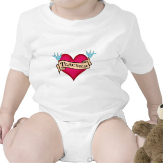 Teacher - Custom Heart Tattoo T-shirts & Gifts