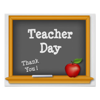 Teacher Day Poster, Thank You ! Poster