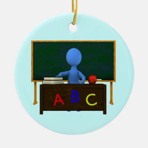teacher christmas tree ornament