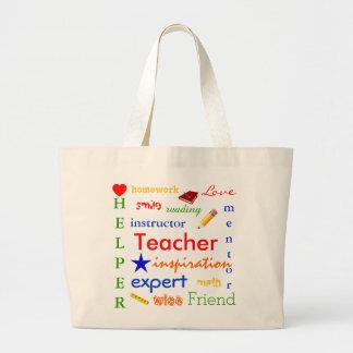 Teacher Defined Jumbo Tote Bag