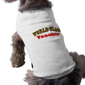 Teacher Sleeveless Dog Shirt
