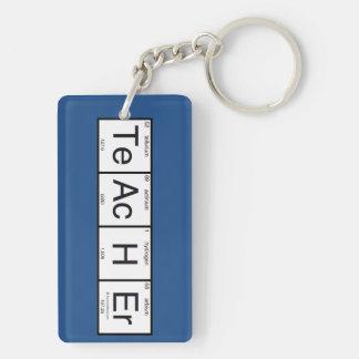 Teacher Double-Sided Rectangular Acrylic Key Ring
