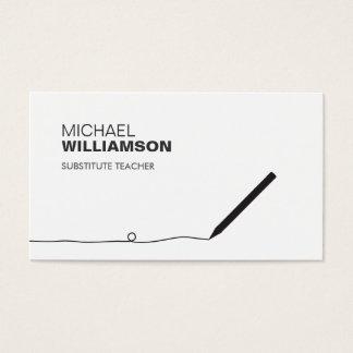 Teacher, Educator Pencil Business Card