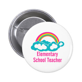 Teacher Elementary School 6 Cm Round Badge