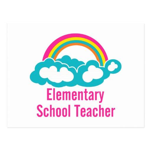 Teacher Elementary School Post Cards