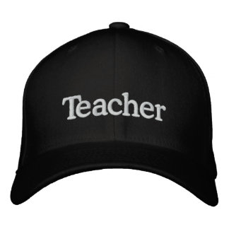 Teacher Embroidered Baseball Caps