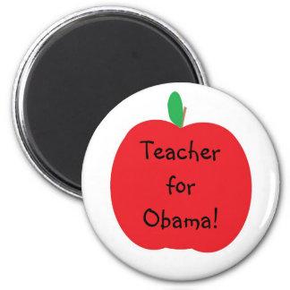 Teacher for Obama! 6 Cm Round Magnet