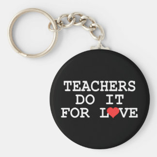 Teacher Gift Basic Round Button Key Ring