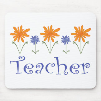 Teacher Gift Flowers Mouse Pad