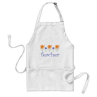 Teacher Gift Flowers Standard Apron