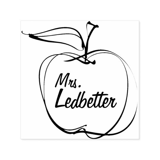 Teacher Gift - Personalised Rubber Stamp