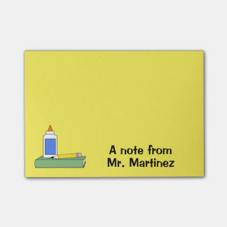 Teacher Gift Personalized A Note From Classroom Post-It Notes