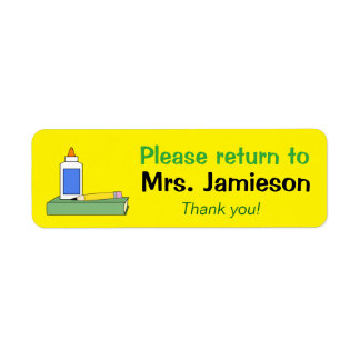Teacher Gift Personalized Labels Return to Name