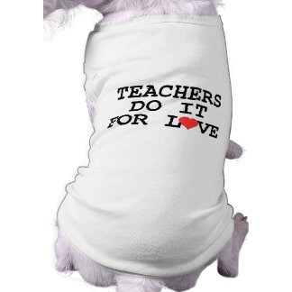 Teacher Gift Sleeveless Dog Shirt