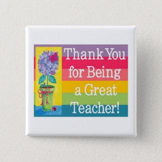 Teacher gifts 15 cm square badge