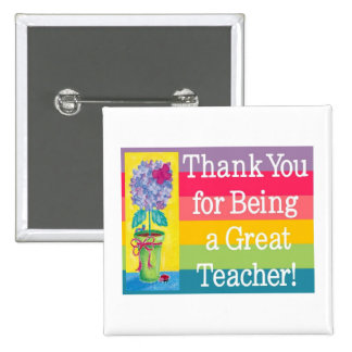 Teacher gifts 15 cm square badge