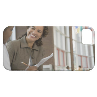 Teacher giving paperwork to student iPhone 5 cover