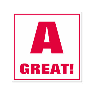 Teacher Grading Stamp: A, GREAT! Self-inking Stamp