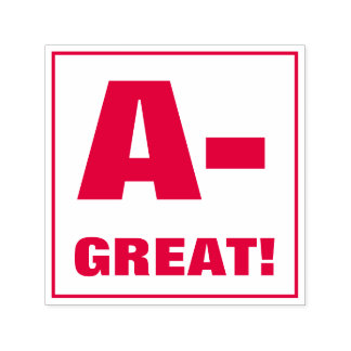 Teacher Grading Stamp: A-, GREAT! Self-inking Stamp