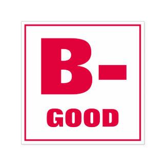 Teacher Grading Stamp: B-, GOOD Self-inking Stamp