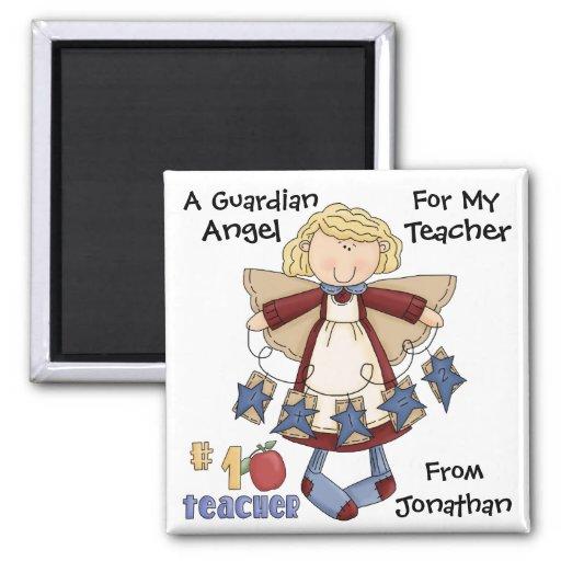 TEACHER Guardian Angel by SRF Fridge Magnets