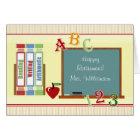 Teacher Happy Retirement ChalkBoard Card