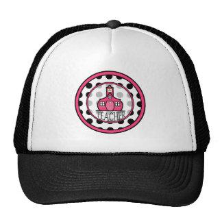 Teacher Hat - Black Polka Dot