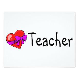 Teacher Heart 11 Cm X 14 Cm Invitation Card