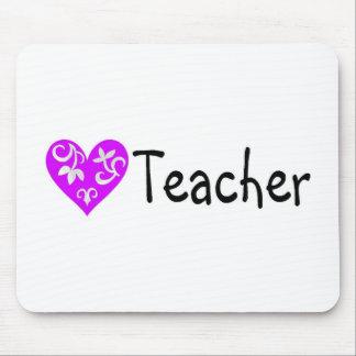 Teacher Heart 2 Mouse Pad