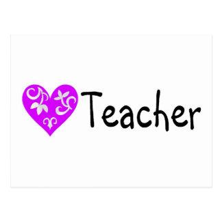Teacher Heart 2 Postcard