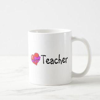 Teacher Heart Basic White Mug