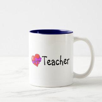 Teacher Heart Two-Tone Mug