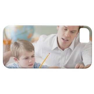 Teacher helping student with homework iPhone 5 cover