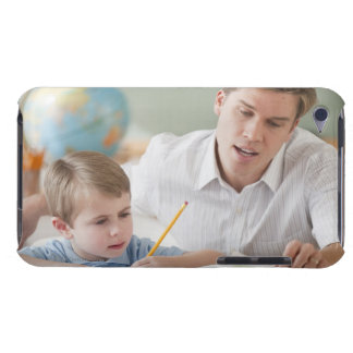 Teacher helping student with homework iPod Case-Mate case