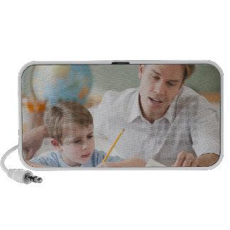 Teacher helping student with homework iPhone speaker