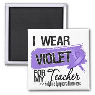 Teacher Hodgkins Lymphoma Ribbon Magnets