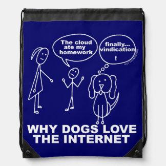 Teacher Humor Why Dogs Love The Internet Cinch Bag