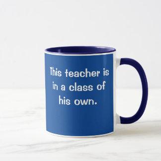 Teacher In Class Of Own Funny Male Teacher Slogan Mug