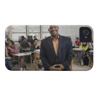Teacher in classroom with students iPhone 4 covers