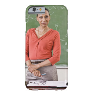 Teacher in front of chalkboard barely there iPhone 6 case